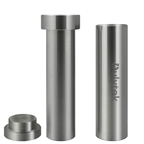 "Dulytek Hammer Style Pollen/Herb Press - Cylinder Food-Grade Stainless Steel - X-Large Size - 5.5"" Height, 30mm Inner Diameter"