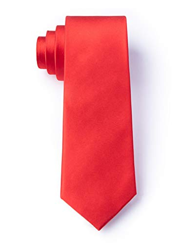 Candy Apple Red Candy Apple Red Silk Tie For Boys -