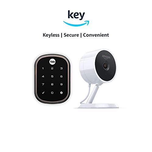 Yale Assure YRD256 SL Key Free Touchscreen Deadbolt + Amazon Cloud Cam | Key Smart Lock Kit (Oil-Rubbed Bronze)