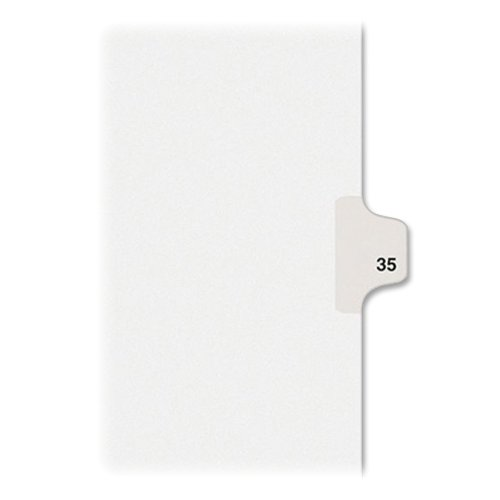 35 Tabs (Avery Legal Dividers, Premium Individual Tab Titles, Letter Size, Side Tabs, #35, Pack of 25 (01035))