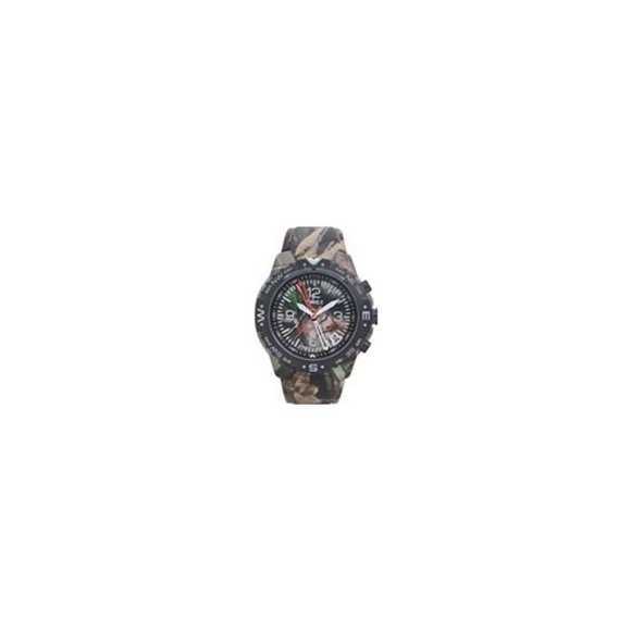 Timex 42271 Men's Round Analog Expedition Camouflage Compass Sport Watch with Genuine Leather Camouflage Strap -  T42271