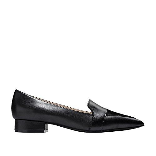Cole Haan Women's Marlee Skimmer II Ballet Flat, Black Leather/Suede, 11 B US