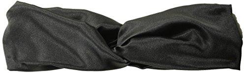 Orchid Row Women's Fashion Satin Turban Headband Black ()