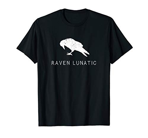 Raven Lunatic Shirt Fun Bird Goth Gothic Gift Men Women Kids ()