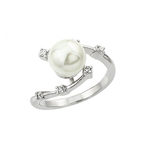 Pearl Sterling Silver Curves - 7