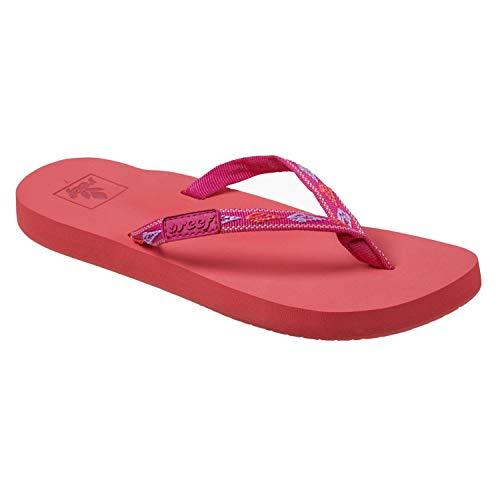 REEF Women's Ginger Slip-On Flip-Flop Sandals, Tropical Sunset (TRPCLSNST/TUN), 8