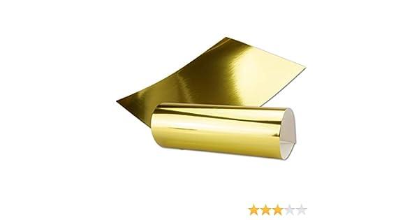 Oro Metal Espejo, Juego de 20, de papel blanco metálico brillante papel, efecto espejo dorado | parte trasera color blanco y imprimibles, DIN A4 210 x 295 mm Gustav neuser C de