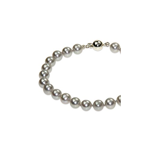 Parure Collier Sautoir et Bracelet Perles de culture Argent -Blue Pearls-BPS 0051 L