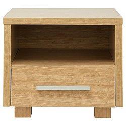 Camden Side Table Oak Bedside Table  Shelf