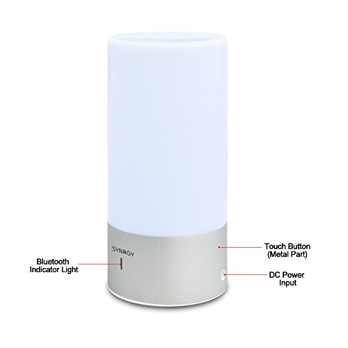 SYNAGY Smart Touch Table Lamp, LED Atmosphere Lamp with Bluetooth Speaker