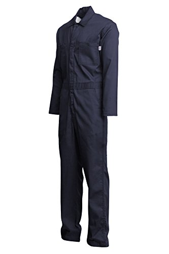 Lapco FR CVEFR7NY-4XL TL Flame Resistant Economy Coveralls, 100% Cotton Twill with Moisture Management, HRC 2, NFPA 70E, 7 oz, 4X-Large Tall, Navy by Lapco FR (Image #2)