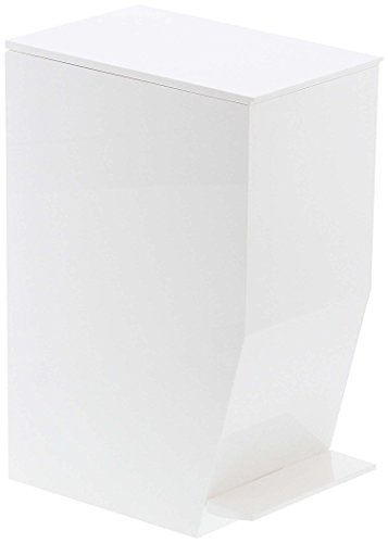 Small Sleek Sanitary Trash Can with Pedal, Rubbish Bin Receptacle Waste Disposal, For Office Home Bathroom Toilet, White by Red Co.