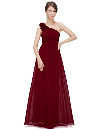 Ever-Pretty Mother of Bridesmaid Dress Long One Shoulder Design 4US Red