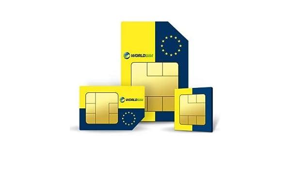 WorldSIM Europe - Tarjeta SIM (Incluye 75 USD): Amazon.es: Electrónica