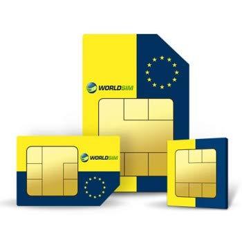 WorldSIM Europe - Tarjeta SIM (Incluye crédito Inicial de 15 ...