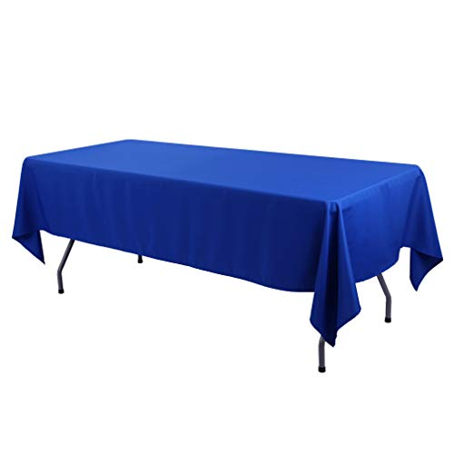 Waysle 60x84-Inch Rectangular Tablecloth Royal Blue - Great for Buffet Table, Parties, Holiday Dinner, Wedding & More -