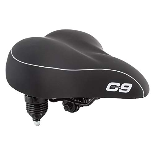 Sunlite Cloud-9 Bicycle Suspension Cruiser Saddle, Cruiser Gel, Tri-color Black