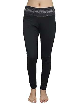 Marika Womens Professional Sports Skinny Pants Leggings / Yoga Pants L Black