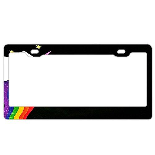 Fabulous Unicorn Slim Style 2 Screw Holes Aluminum License Plate Frame Holder -