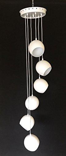 Lustre de 6 bolas em aluminio