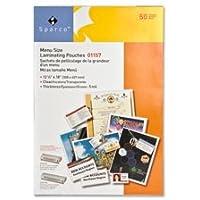 Laminating Pouch,Menu Size,12-1/8x18,5 mil,50/BX,CL, Sold as 2 Box, 50 Each per Box
