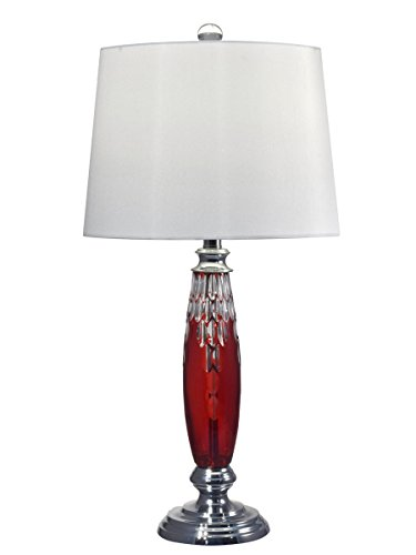 Dale Tiffany GT17087 Red Marble Table Lamp, 28.5