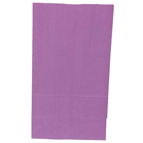 (JAM PAPER Lunch Bags - Small - 4 1/8 x 8 x 2 1/4 - Purple Kraft - Bulk 500 Bags/Box)