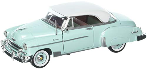 Motor Max 1:24 1950 Chevrolet Bel Air Coupe Die Cast Vehicles, Teal Green