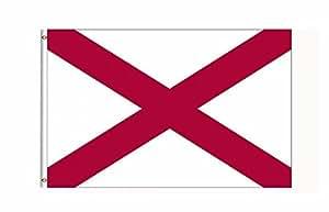 Alabama Estado de los Estados Unidos bandera Banner 3pies x 5pies Poliéster impresa con ojales