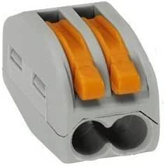orange 412-lever-clamp-2-way-connectors-terminals-pack de 1/ /à 100 Wago-221