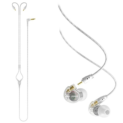 Price comparison product image MEE Audio M6 PRO In-Ear Monitors w / 72 inch Stereo Audio Cable (Clear) - Bundle
