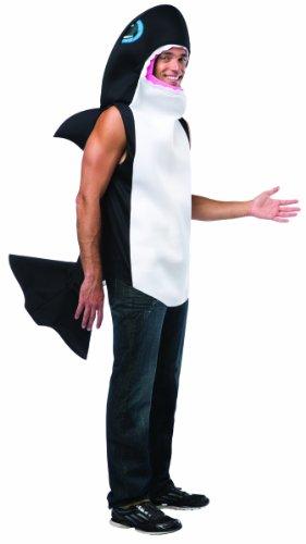 Killer Whale Halloween Costumes (Rasta Imposta Men's LW Killer Whale Adult, Multi, One Size)