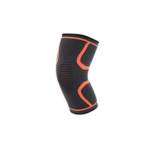 Sookiay Knee Support Compression Sleeves Knee Pad Knee Brace Support for Arthritis Kneecap (Orange, L)