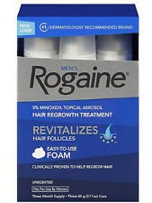 Price comparison product image Mens Rogaine Foam Romaine Hair Regrowth Treatment 9/2.11 Oz Cans 9 Month Supply