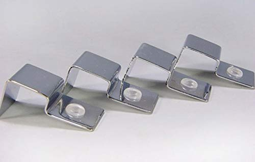 4pcs glass stainless steel aquarium tank glass cover clip support holder thermo brackets   Cover fix, For 6mm glass
