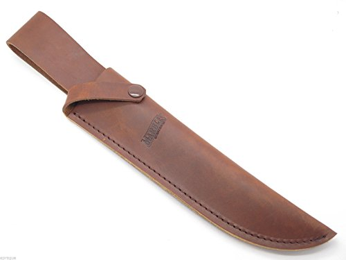 Marbles Vintage Old Stock Trailmaker Sheath 10 Inch Fixed Blade Bowie Survival Jungle Knife Brown Leather
