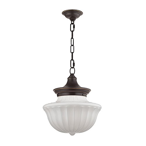 """Hudson Valley Lighting 5012-OB One Light Pendant from The Dutchess Collection 12"""" Old Bronze"""