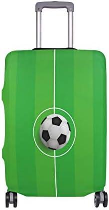 (ソレソレ)スーツケースカバー 防水 伸縮素材 キャリーカバー ラゲッジカバー サッカー グリーン 緑 可愛い かわいい 可愛い おしゃれ 防塵 旅行 出張 便利 S M L XLサイズ