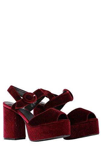 Campbell Velours Sandal En Masie Jeffrey Rouge wPxW6fYq