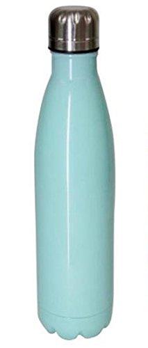 Mainstays Double-Wall Vacuum Insulated Stainless Steel Bottle 17 oz (500ml) 48+ Hours Cold Performance (Classic Mint)