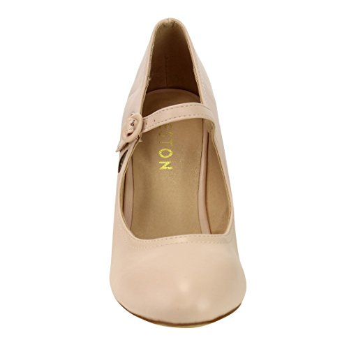 Beston De39 Dames Traan-holle Mary Jane Dress Pumps Lopen One Size Small Nude