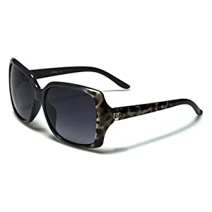 DG Eyewear New Women's 2014 High Fashion Animal Print Sunglasses-DG37158 (Grey Leopard)