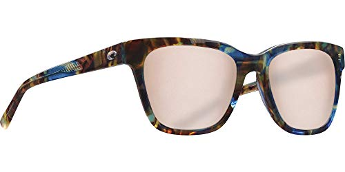 Costa Coquina Sunglasses Shiny Ocean Tortoise/Copper Silver Mirror 580G