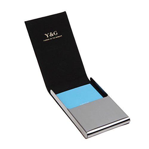 YDC06A15 Dark Cadet Blue Gentlemen Gift Artificial Leather Card Holder Presents Idea For Business Card Cases With Gift Box By Y&G
