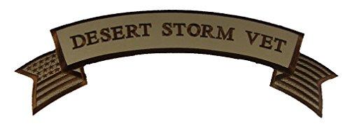 Large DESERT STORM VET Top Rocker Patch for ODS Vet Jacket Patch - Veteran Owned Business Desert Storm Vet Patch