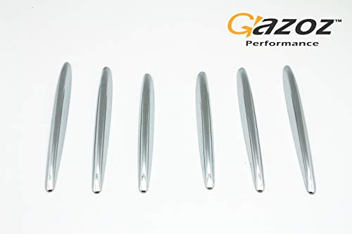 (GAZOZ PERFORMANCE Mercedes Benz SLK Accessories, Chrome Molding Fins, Bonnet Grille Hood Vent Cover Trims for 2012-2019 Mercedes Benz R172 SLK Class - Chrome Nickel Stripe)