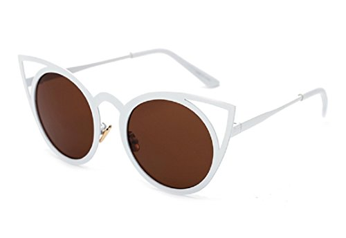 Yabina Fashion Women Oversized Cat Eye Sunglasses Mirror Eyewear Uv400  3