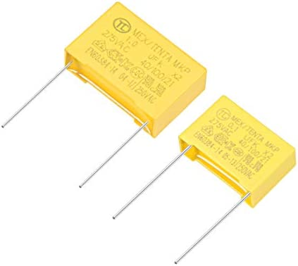 Polypropylene Capacitors  Assortment Kit DIP 275VAC X2 MKP 0.1uF 1uF 10 Pcs