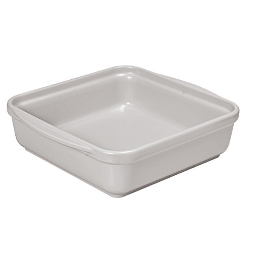 French Home 9.5-inch Oyster Gray Square Baking Dish