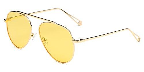 Vintage Retro Aviator Mirror Lens Sunglasses Purple - 1